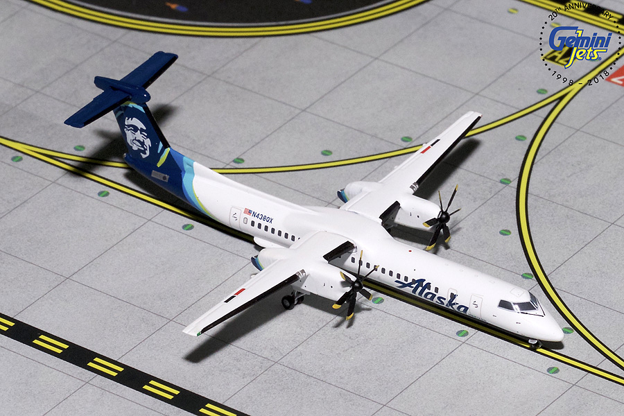Alaska Dash 8 Q-400 New Livery N438QX (1:400) - Preorder item, order now for future delivery