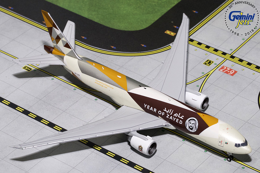 "Etihad Cargo B777F ""Sheik Zayed"" A6-DDE (1:400) - Preorder item, order now for future delivery"