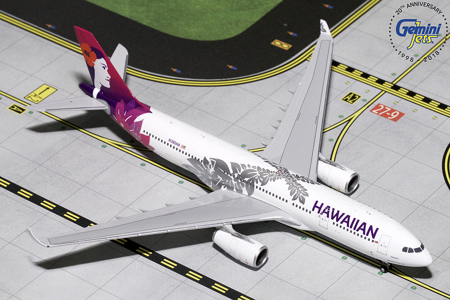 Hawaiian A330-200 New Livery N380HA (1:400) - Preorder item, order now for future delivery