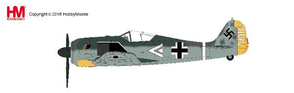 FW 190A-4 Hauptmann Egon Mayer, Cruppenkommandeur III./JG 2, Cherbourg-Theville, Feb 1943 (1:48) - Preorder item, order now for future delivery, Hobby Master Diecast Airplanes Item Number HA7424