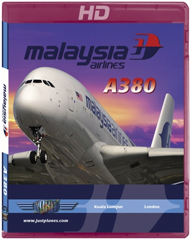 Malaysia Airlines A380 to London Heathrow (HD Blu-ray), Just Planes Aviation Blu-Ray Item Number JPMAS1