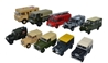 10-Piece Military Land Rover Set (1:76 OO Scale) by Oxford Diecast Military Vehicles