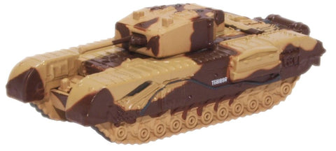 "Churchill Mk.III Tank, Maj. King, ""Kingforce,"" British Army, El Alamein, 1942 (1:148 N Scale) by Oxford Diecast Military Vehicles"