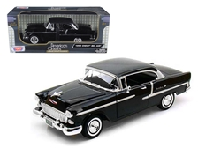 1955 Chevrolet Bel Air Hard Top Black 1/18 by Motormax
