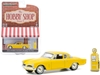 "1953 Studebaker Commander Yellow with Vintage Gas Pump ""The Hobby Shop"" Series 9 1/64"