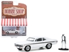 "1972 Chevrolet Rally Nova White with Black Stripes with Race Car Driver Figurine ""The Hobby Shop"" Series 9 1/64"