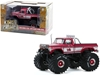 "1975 Ford F-250 Ranger XLT Monster Truck with 66-Inch Tires and Bed Cover ""King Kong"" Pink ""Kings of Crunch"" 1/43"