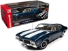 "1969 Oldsmobile 442 W-30 Coupe Trophy Blue Metallic with White Stripes ""Muscle Car & Corvette Nationals"" (MCACN) 1/18"