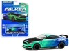 "2019 Ford Mustang Shelby GT350R ""Falken Tires"" Green and Blue with Carbon Hood ""Hobby Exclusive"" 1/64"