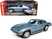"1967 Chevrolet Corvette 427 Hardtop Elkhart Blue Metallic with Blue Interior ""Muscle Car & Corvette Nationals"" (MCACN) 1/18"