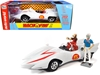 Mach 5 Five White with Chim-Chim Monkey and Speed Racer Figurines 1/18
