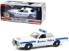 "1976 Dodge Coronet White with Blue Stripes ""Boston Police Department"" (Massachusetts) ""Hot Pursuit"" Series 1/24"