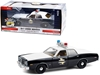 "1977 Dodge Monaco ""Texas Highway Patrol"" Police Car Black and White ""Hot Pursuit"" Series 1/24"