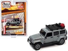 2018 Jeep Wrangler Rubicon with Roof Rack Gray 1/64