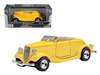 1934 Ford Coupe Yellow 1/24 Diecast Car Model by Motormax, Motormax Item Number MMX73218Y