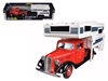 1937 Ford Pickup Truck Red with Camper Shell 1/24