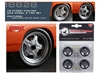 "Wheel and Tire Set of 4 from 1970 Plymouth Road Runner ""The Hammer"" Furious 7 Movie (1:18), GMP Item Number 18828"
