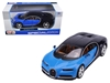 Bugatti Chiron Blue / Dark Blue 1/24 Diecast Model Car by Maisto, Maisto Item Number MST31514BL