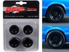 "Wheels and Tires Set of 4 from 1993 Ford Mustang Cobra 1320 Drag Kings ""King Snake"" 1/18 by GMP, GMP Item Number 18894"