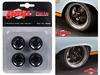 "5-Spoke Wheel and Tire Pack of 4 from 1966 Ford Fairlane Street Fighter ""Gulf Oil"" 1/18 by GMP"