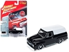 "1955 Ford F100 Panel Delivery Gloss Black with White Top ""Classic Gold"" Limited Edition to 2,016 pieces Worldwide 1/64 Diecast Model Car by Johnny Lightning, Johnny Lightning Item Number JLSP030"
