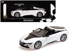 2018 BMW i8 Roadster Metallic White 1/18 by Minichamps Item Number: 155027031