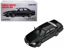 2000 Nissan Skyline 25GT-V RHD (Right Hand Drive) Metallic Black 1/64 by TomyTec Item Number: 288640