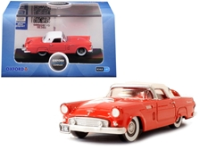 1956 Ford Thunderbird Fiesta Red with Colonial White Top 1/87 (HO) by Oxford Diecast Item Number: 87TH56004