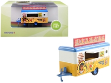 "Mobile Food Trailer ""Spicy Sanitas"" 1/87 (HO) by Oxford Diecast Item Number: 87TR013"