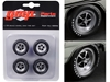 "Magnum Wheels and Tires Set of 4 pieces from ""1970 Plymouth GTX"" 1/18"