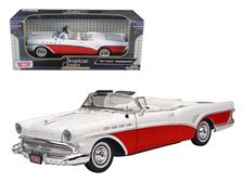 1957 Buick Roadmaster Convertible Red 1/18 by Motormax