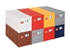 20 ft Container 8-Piece Set (1:87, HO), Kibri Item Number KBR10924